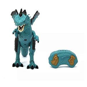 Brinquedo Dragão de Gelo Com Sopro Gelado Thorn Para Criança - Polibrinq