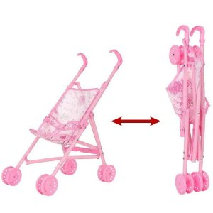 Carrinho Para Boneca Dobrável Brinquedo Menina +3 Anos Polibrinq