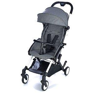 Carrinho de Bebê Passeio Up Gray Burigotto com Encosto Regulavel