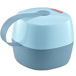 Porta Chupetas Bebê Compacta Com Gancho Até 3 Chupetas Soft Fisher Price Azul