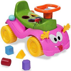 Totokinha Infantil Criança Carrinho Passeio Quadriciclo Modelo Bolinha Para Menina Marca Cardoso Toys