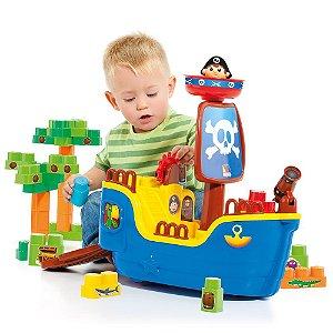 Baby Land Navio Pirata Molto Blocks 30 Blocos