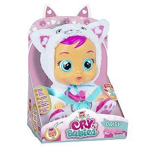 Boneca Cry Babies Daisy Que Chora de Verdade Para Bebe - Multikids