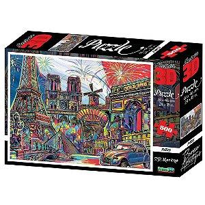 Quebra Cabeça Super 3D Paris C/500 Peças BR1056