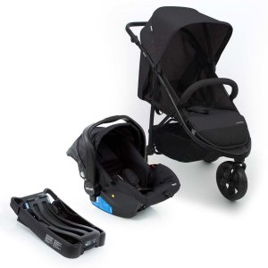 Carrinho de Bebe Travel System Collina Trio Black Infanti + Bebe conforto + Base