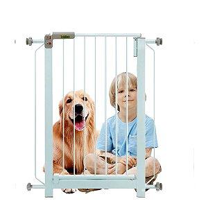Grade Para Portas Escadas Corredores Infantil Bebê Com Fixação Sob Pressão Tubline