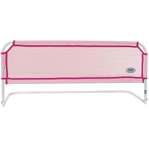 Grade de Proteção Para Cama Segurança Para Bebê Criança  Sem Furação Tubline Rosa Grade Protetora