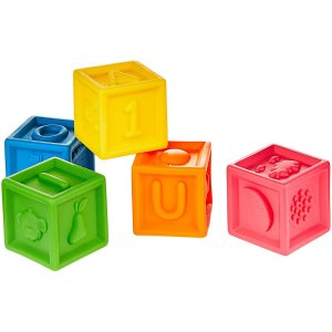Brinquedo Para Bebês Coloridos Cubinhos Mordedor Divertidos BDA