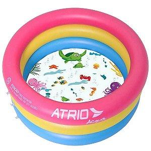 Piscina Inflavel Redonda Criança Bebê 88 Litros de Água Atrio