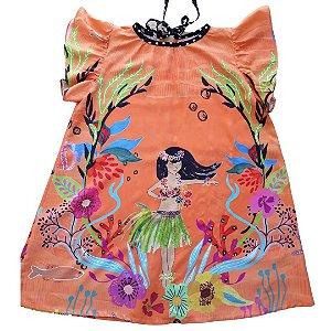 Vestido Havaiana Curto