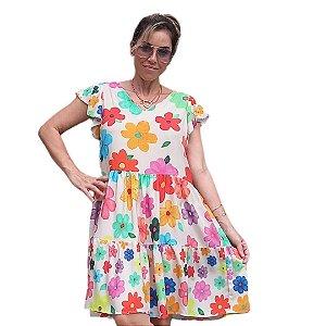 Vestido Vejo Flores Mãe