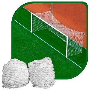 Par de Rede para Trave de Gol Futebol de Campo Sob Medida Fio 8mm Nylon
