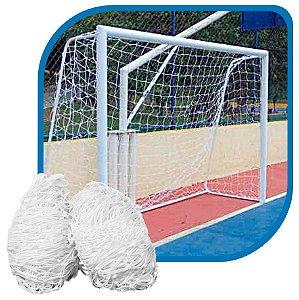 Par de Rede para Trave de Gol Futsal Sob Medida Fio 4mm Nylon
