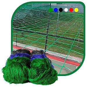 Rede de Proteção Esportiva Sob Medida Para Campo/Quadra de Futebol e Society Fio 2 Malha 15cm Nylon