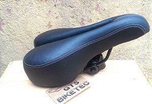 Selim Bike Mtb GTS BIKETEC Preto Com Cavidade Vazado