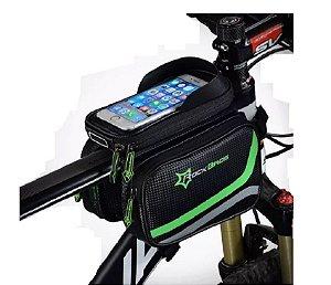 Bolsa Celular Alforge Para Quadro Bicicleta Rockbros Carbono