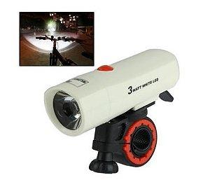 Lanterna 1 LED de luz de Segurança da bicicleta Flash Light com Suporte