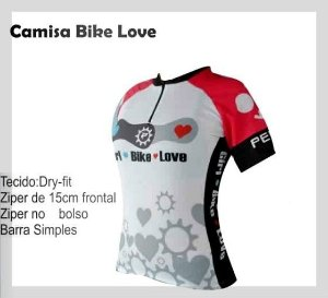 Camisa Bike Feminina Ciclismo Love Bike Penks