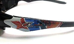 Óculos De Sol Uv400 Armação Grafitada Street