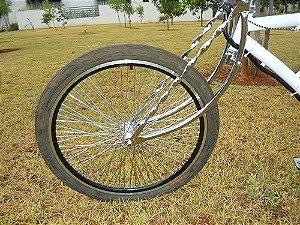 Garfo Low Bike Aro 26 Para Bicicleta Low Rider Cromado