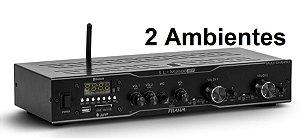 Amplificador - Receiver para Som Ambiente Frahm SLIM 2500 APP - 2 Ambiente