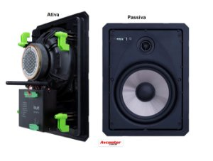 Kit Caixa Ret LR6 BT-A ativa BL c/aux borderless LOUD