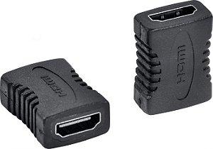 EMENDA HDMI FEMEA x HDMI FEMEA PRETO JX-8007