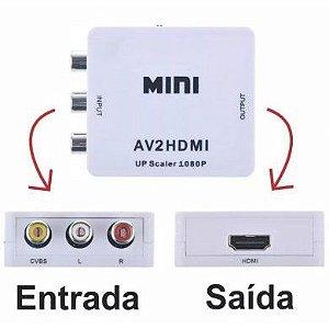 Mini Conversor Vídeo Composto para HDMI DMD GV-AV2HDMI