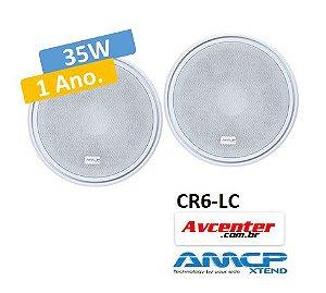Par de Caixa de Embutir Redonda 6 Polegadas 35w CR6-LC-XT AMCP - ***** Melhor que JBL 6 CO2R *******