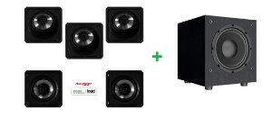 Kit loud de caixas para Home Theater 5.1 Contendo 3cx - sl6 60 + 2cx - sq6 60 + 1 Subwoofer