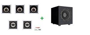 kit de caixa loud Audio 5.1 - 3 sl6 + 2 sq5 + subwoofer