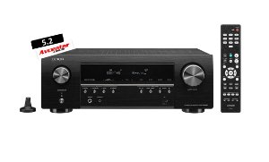 Receiver Denon 5.2 canais 4K Bluetooth HDMI AVR-S 540 BT