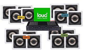 Sistema de Som Ambiente Loud Audio --- 4 Zonas ------APL 850 + 16 SQ5 2-vias --___-----#SomAmbiente -------------Consulte Instalação