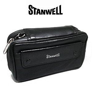 Bag de couro Stanwell para 2 cachimbos