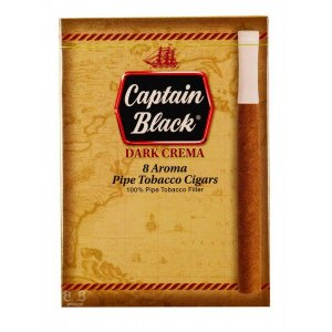 Cigarrilha Captain Black Dark Crema com Piteira – Caixa com 8