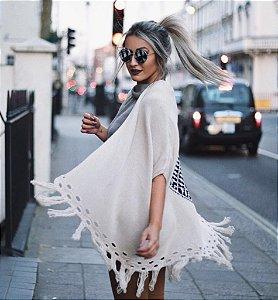 Kimono Bege Étnico