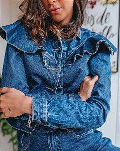 Jaqueta jeans babado