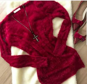 Suéter de Tricot com Pelos