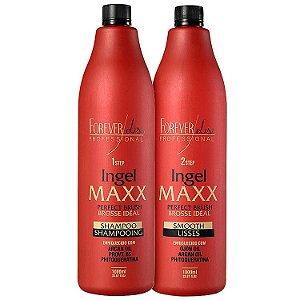 Forever Liss Professional Ingel Maxx Escova Progressiva Kit (2 Produtos)