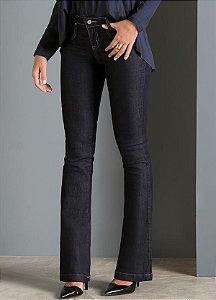 Calça Flare Jeans Escuro