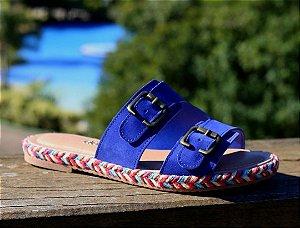 Sandália Rasteira Birken Dakota - Azul