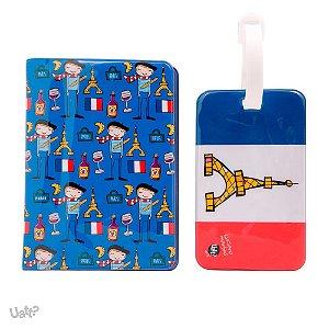 Porta Passaporte e Tag Mala Paris