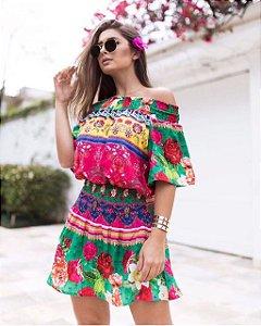 Vestido Ciganinha Tropical