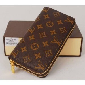 Carteira Louis Vuitton Monogram c/ zíper