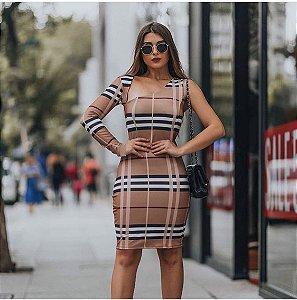Vestido Tubinho Xadrez