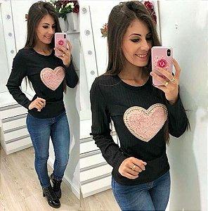 Blusa Canelada Love