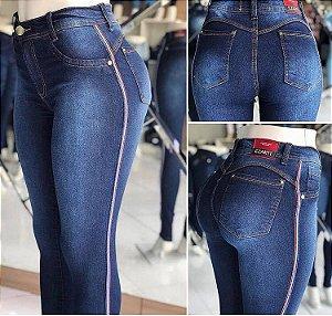 Calça Jeans Listras Finas
