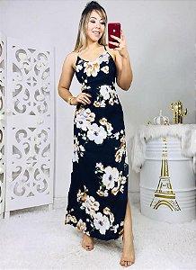 Vestido Longo Flores