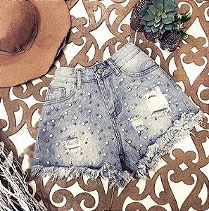 Short Jeans Pérolas