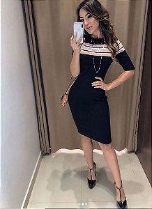 Vestido Tricot Listras